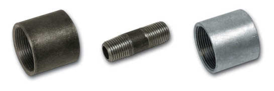 Mild steel threaded fittings