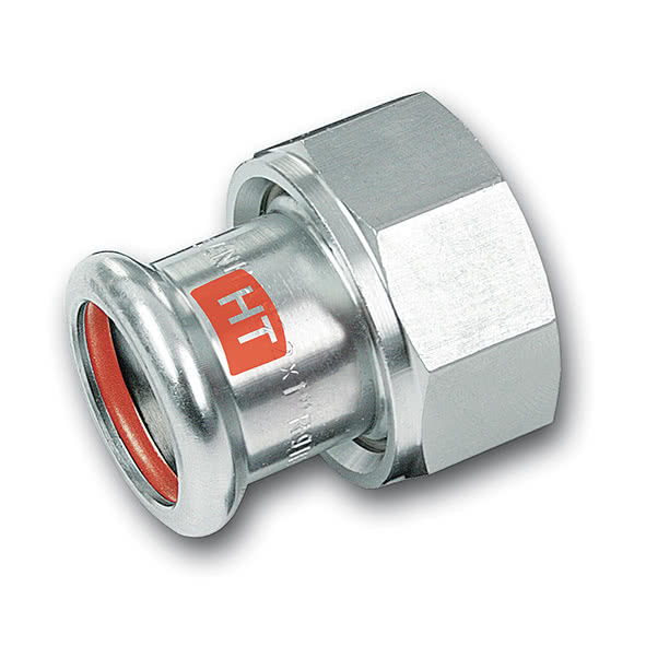 28359G - SANHA-Therm Industry Union adaptor, flat seal.