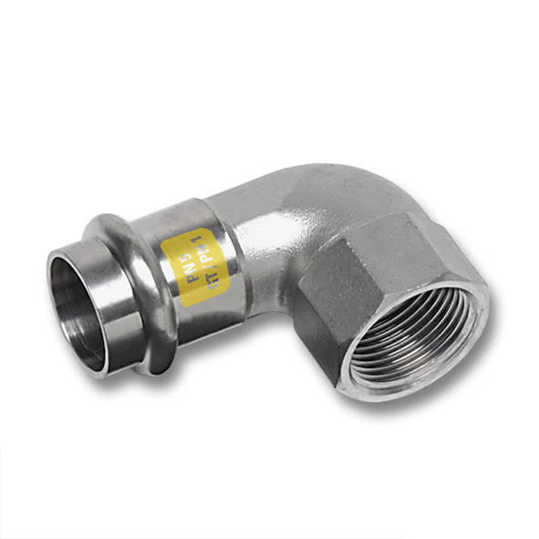 17090IG - NiroSan Gas Elbow 90° F/F-thread