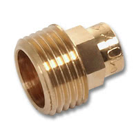 4243G - Straight male adaptor C x M