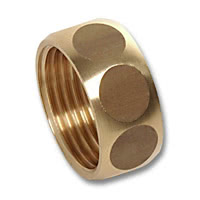 4374 - Union nuts brass