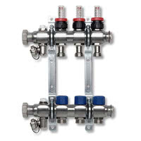 VT-DM - Heating circ. distributor , adjust. flow indicator