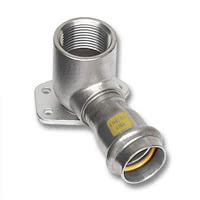 17472G - NiroSan Gas Ceiling elbow F/F-thread